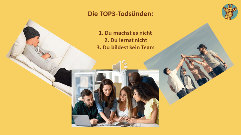 Die TOP 3 Todessünden im Multilevel Marketing